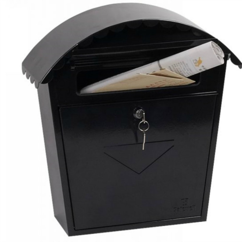 Phoenix Clasico Black Front Loading Mail Box
