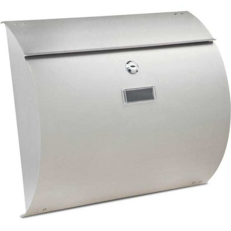 Burton Convex Stainless Steel Post Box