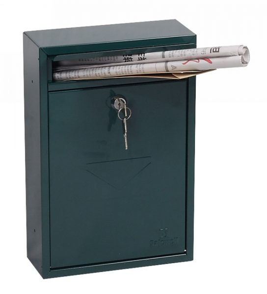 Phoenix Letra Green Front Loading Mail Box