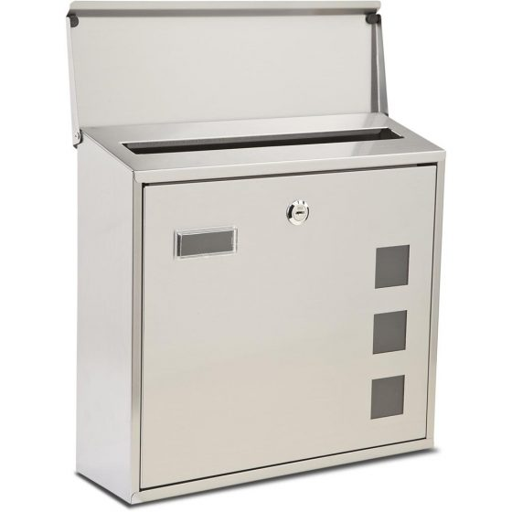 Lunette-  Stainless Steel Post Box