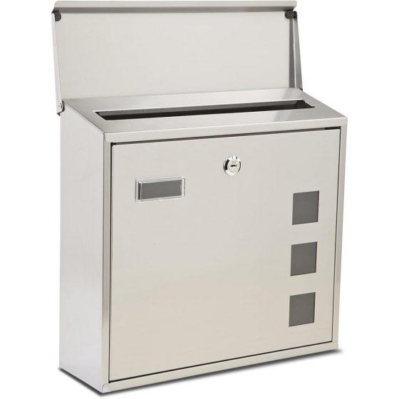 Burton Lunette Stainless Steel Post Box