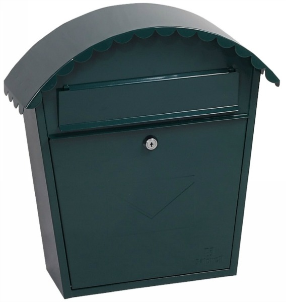 Phoenix Clasico Green Front Loading Mail Box