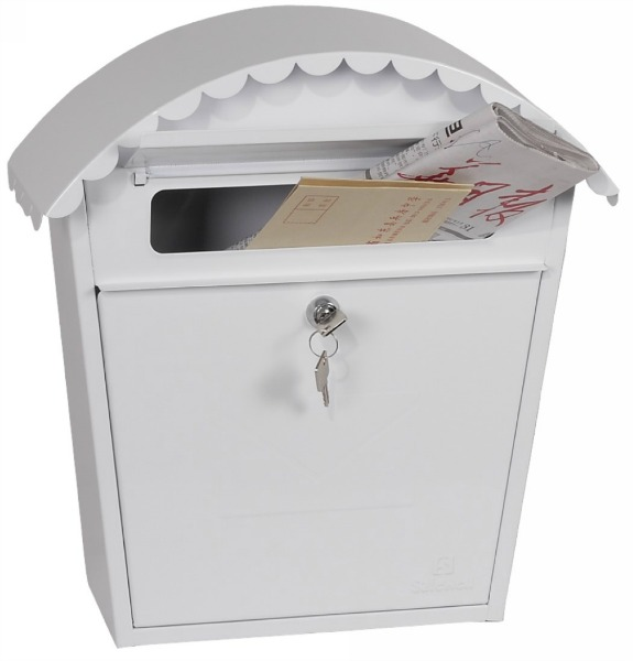 Phoenix Clasico White Front Loading Mail Box