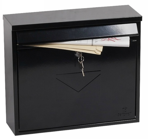 Phoenix Correo Black Front Loading Mail Box