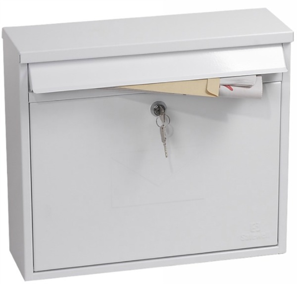 Phoenix Correo White Front Loading Mail Box