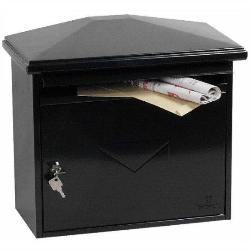 Phoenix Libro  Black Front Loading Mail Box