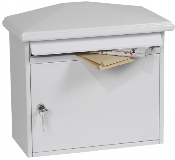 Phoenix Libro White Front Loading Mail Box