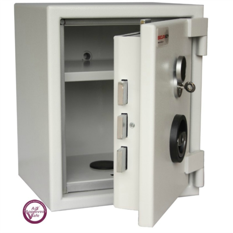 SECURIKEY  Euro Grade 0 015CF Freestanding Safe with Key Lock