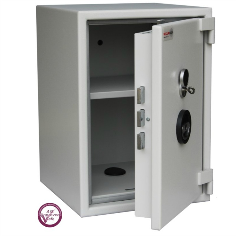 SECURIKEY  Euro Grade 0 055K Freestanding Safe with Key Lock