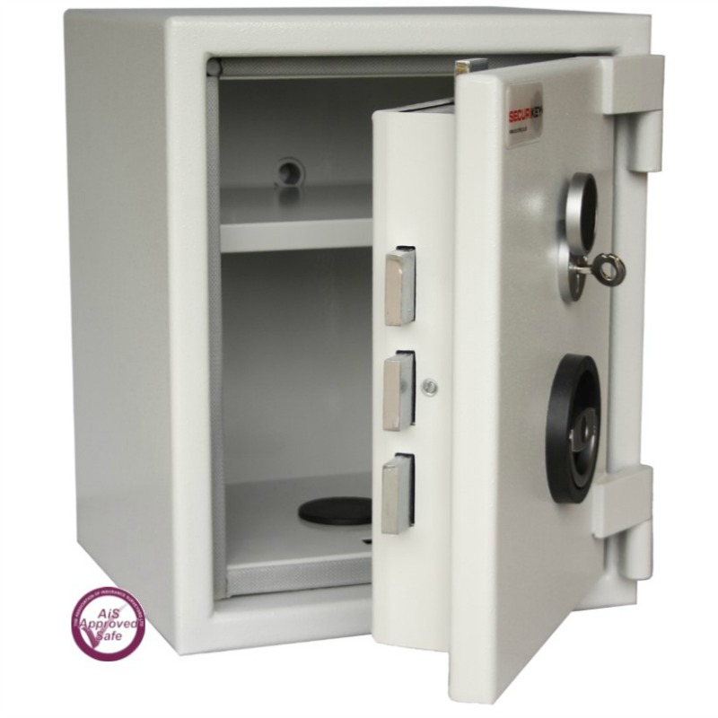 SECURIKEY Euro Grade 1 025N Freestanding Safe with Key Lock