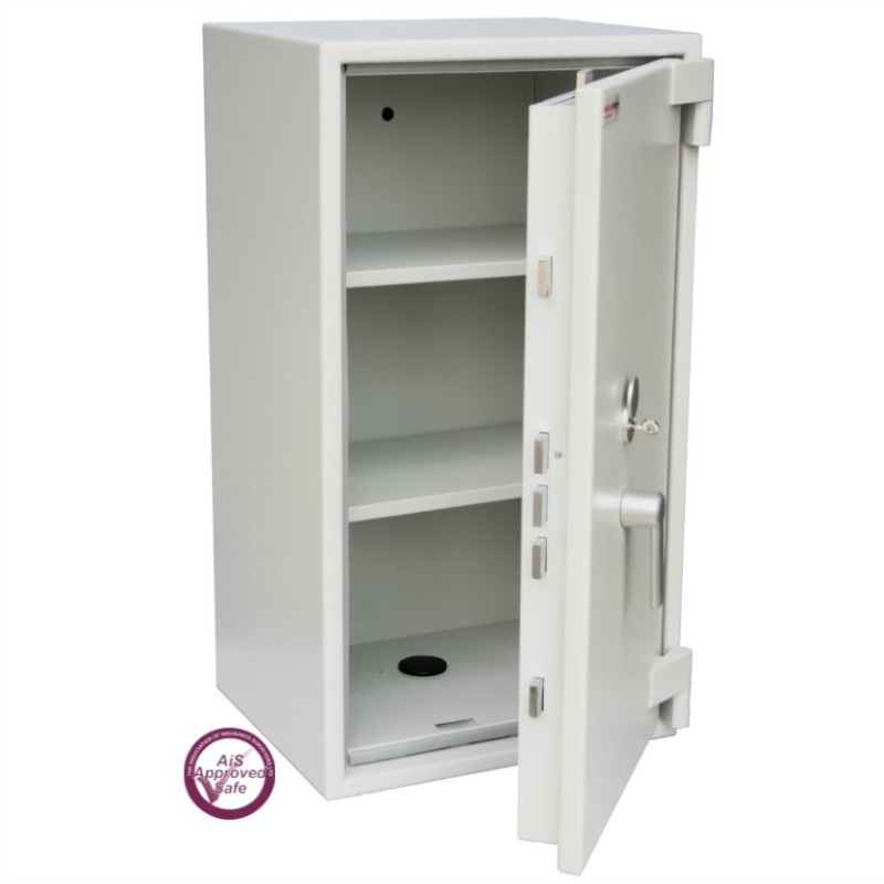 SECURIKEY Euro Grade 1 120N Freestanding Safe with Key Lock