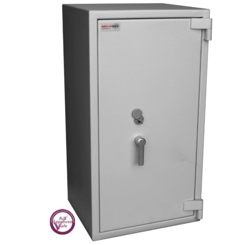 SECURIKEY  Euro Grade 3 395N Freestanding Safe with Key Lock