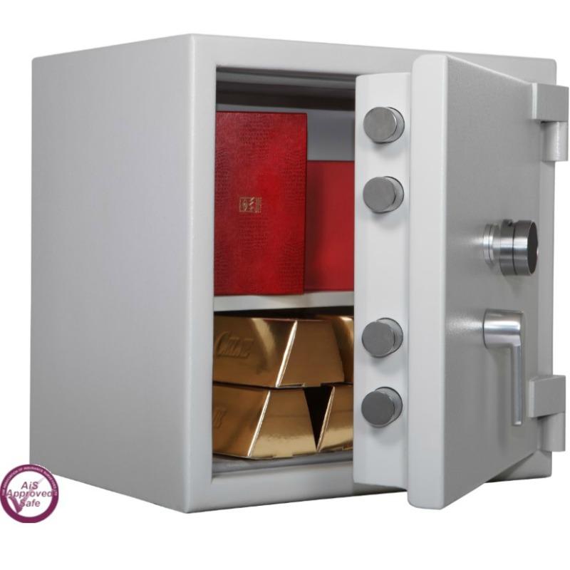 SECURIKEY  Euro Grade 4 080N Freestanding Safe. Dual Locking