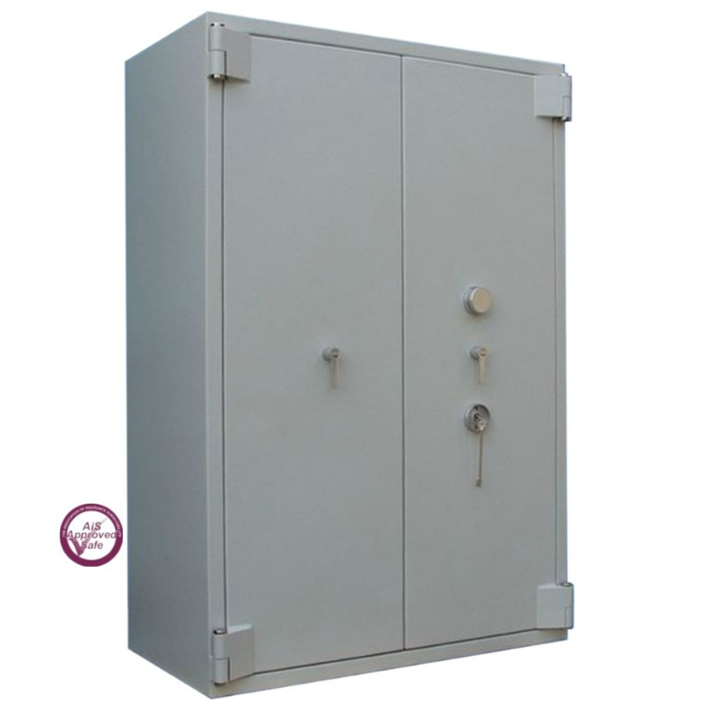 SECURIKEY  Euro Grade 5 780 Dual Locking (Key and Mechanical Combination) Cash Safe with Double Doors