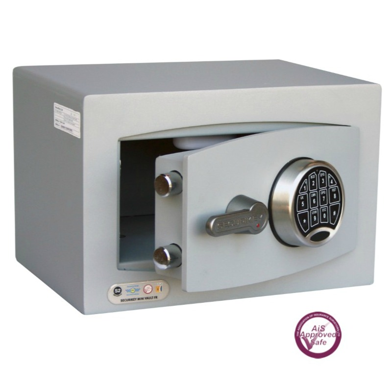SECURIKEY  Mini Vault Silver  0 Electronic Locking