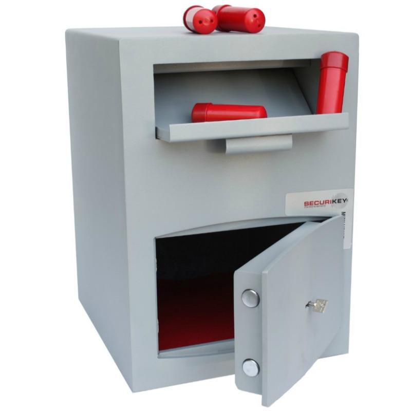 SECURIKEY Mini Vault Deposit Silver 2 Key locking