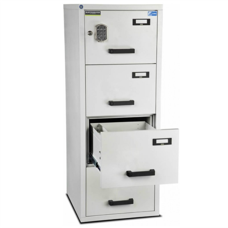 Burton 4 Drawer E Fire Resistant Filing Cabinet