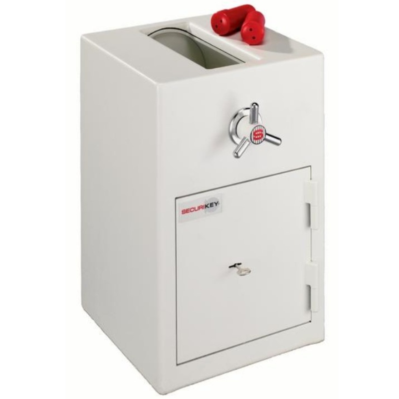SECURIKEY  Rotary Trap Freestanding Safe with Key Lock