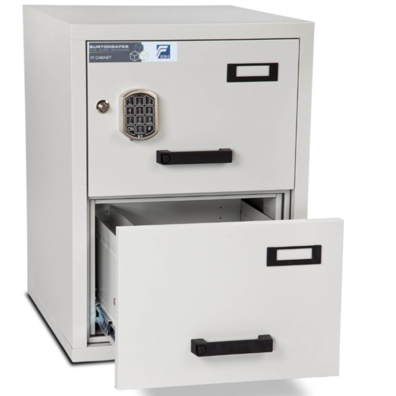 Burton 2 Drawer E Fire Resistant Filing Cabinet