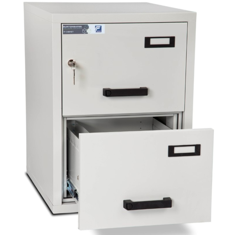 Burton 2 Drawer Fire Resistant Filing Cabinet
