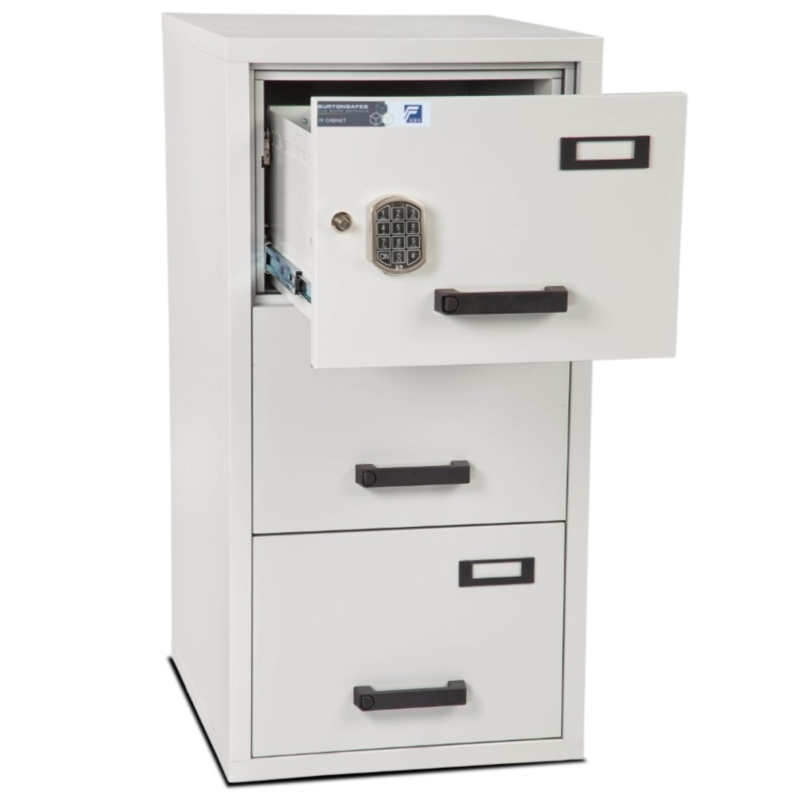 Burton 3 Drawer E Fire Resistant Filing Cabinet