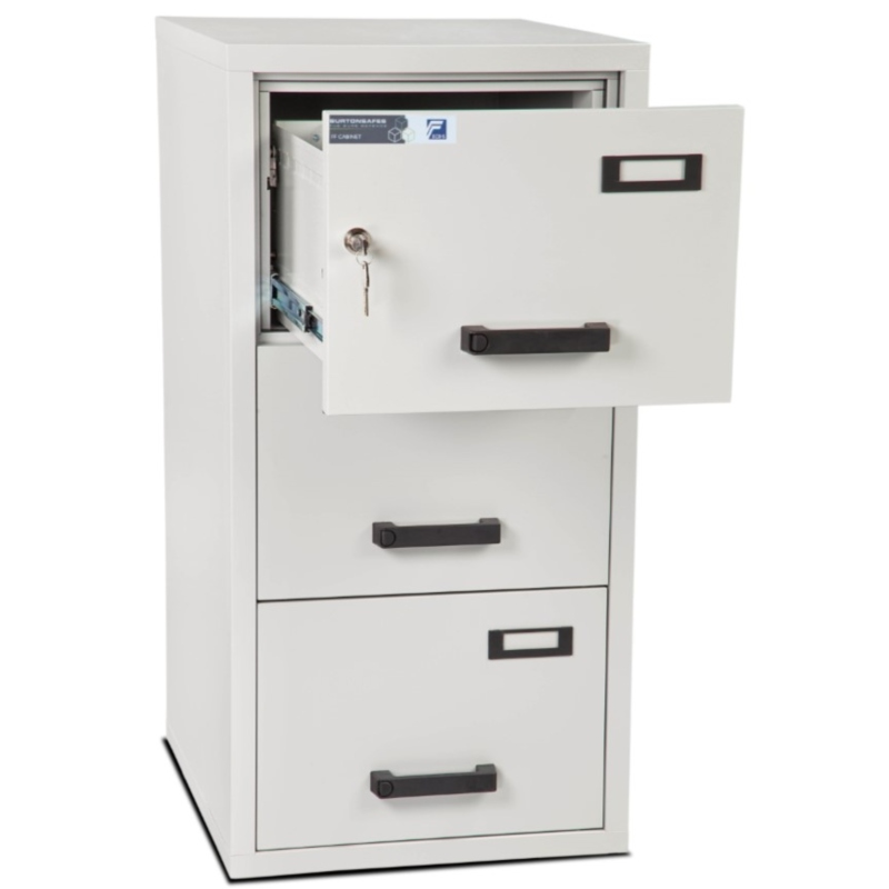Burton 3 Drawer K Fire Resistant Filing Cabinet
