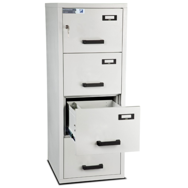 Burton 4 Drawer Fire Resistant Filing Cabinet