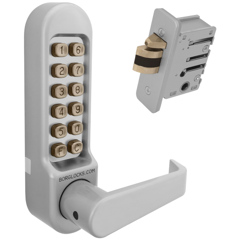 BORG LOCKS BL5402 Digital Lock With Inside Handle And 28mm Latch