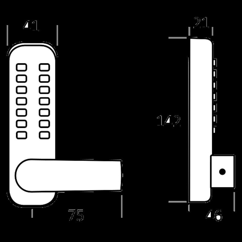 BORG LOCKS BL4409 Wooden Gate Digital Lock With Slam Latch - safesafe co uk