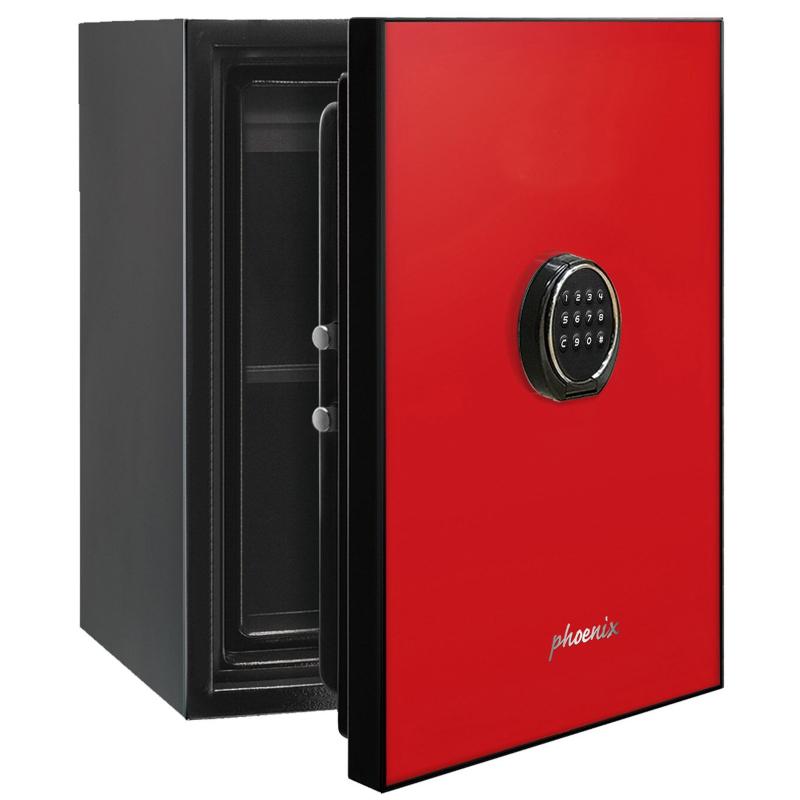 Phoenix Spectrum LS6001ER Luxury Fire Safe with Red Door Panel and Electronic Lock