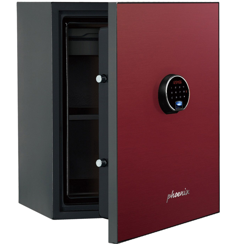 Phoenix Spectrum Plus LS6012FR Size 2 Luxury Fire Safe with Red Door Panel and Electronic Lock