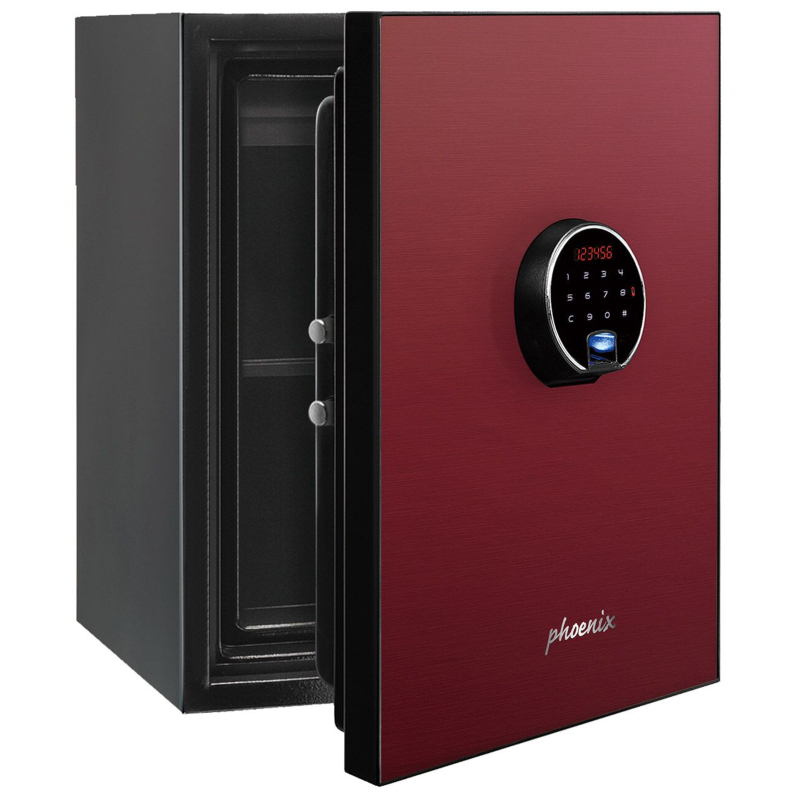 Phoenix Spectrum Plus LS6011FR Size 1 Luxury Fire Safe with Red Door Panel and Electronic Lock