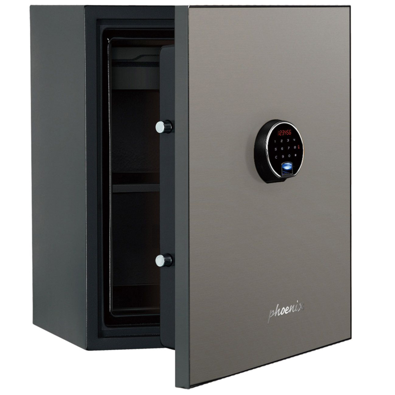 Phoenix Spectrum Plus LS6012FS Size 2 Luxury Fire Safe with Silver Door Panel and Electronic Lock