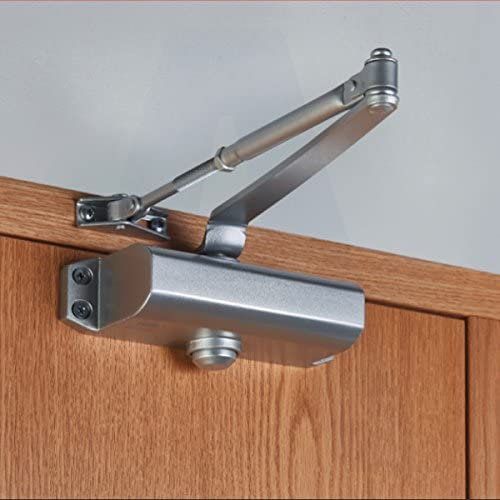 Union Metal Fire Rated Door Closer fitted to a door