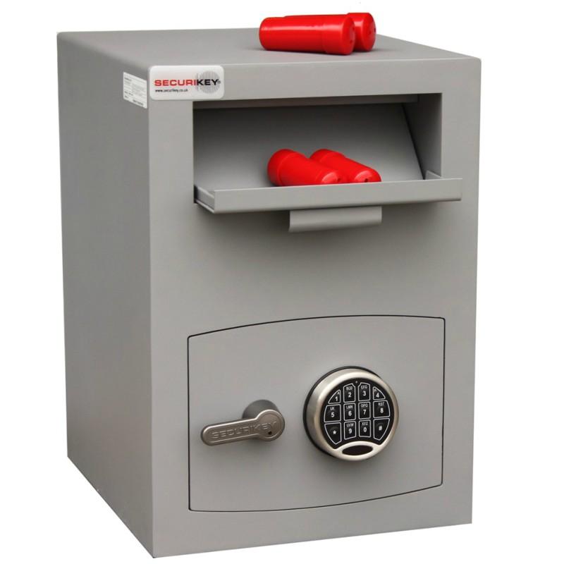 SECURIKEY Mini Vault Deposit Silver 2 Electronic