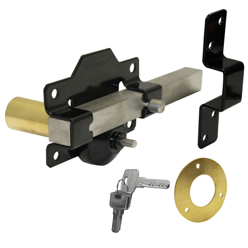 A PERRY Single Locking Long Throw Gate Lock