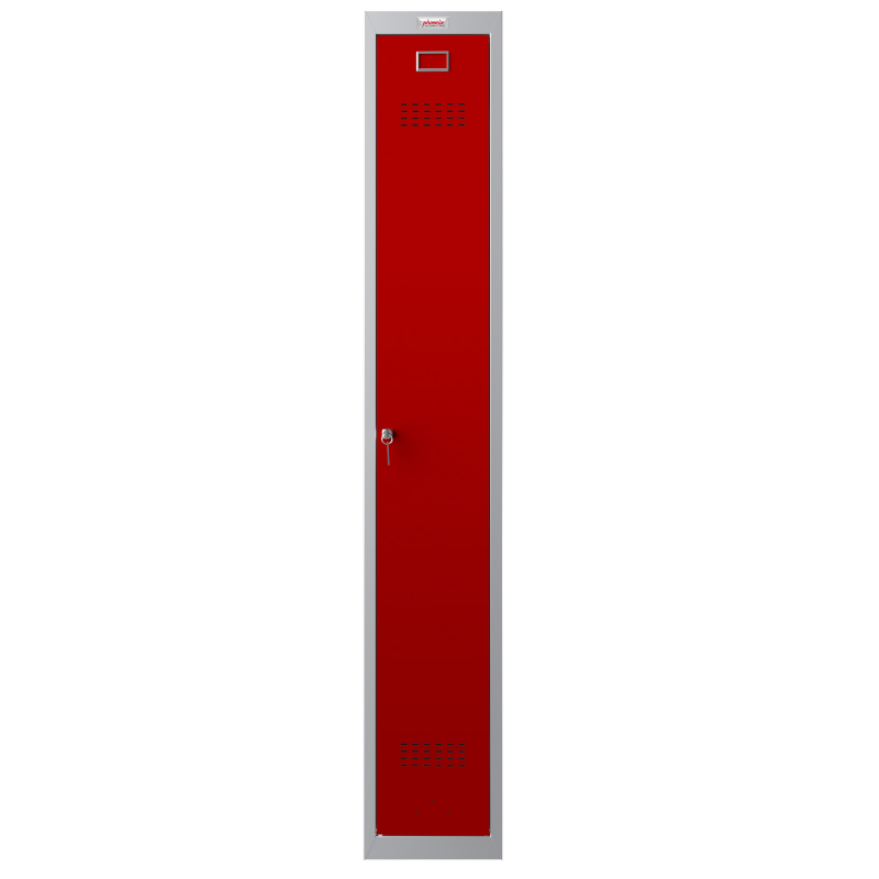 Phoenix 1 Door Red Personal Locker