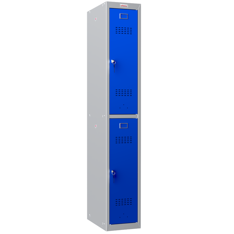 Phoenix 1 Column 2 Door Blue Personal Locker