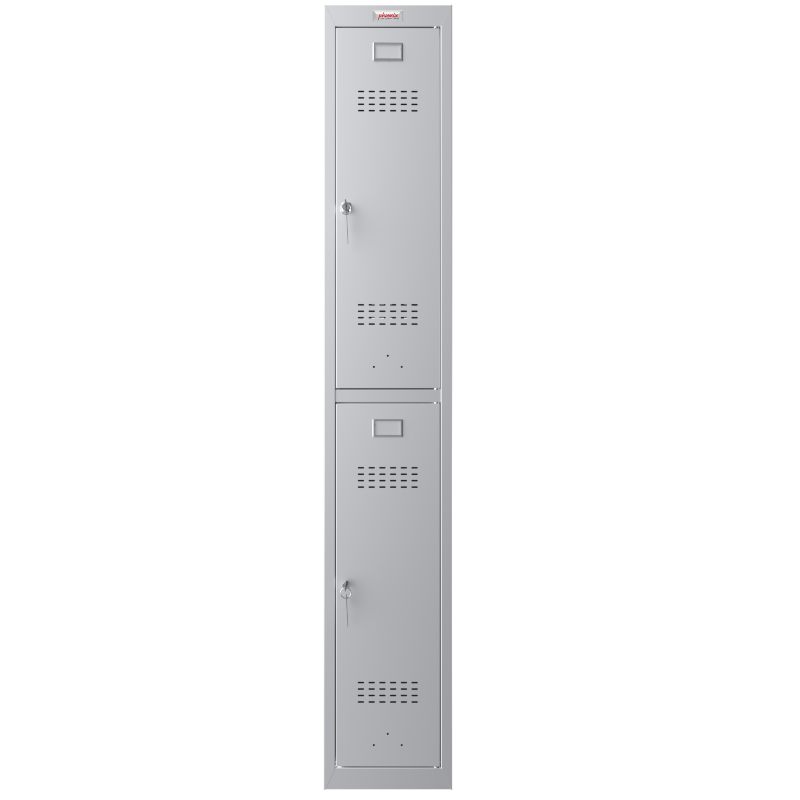 Phoenix 1 Column 2 Door Grey Personal Locker