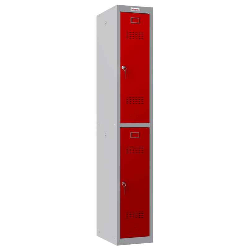 Phoenix 1 Column 2 Door Red Personal Locker