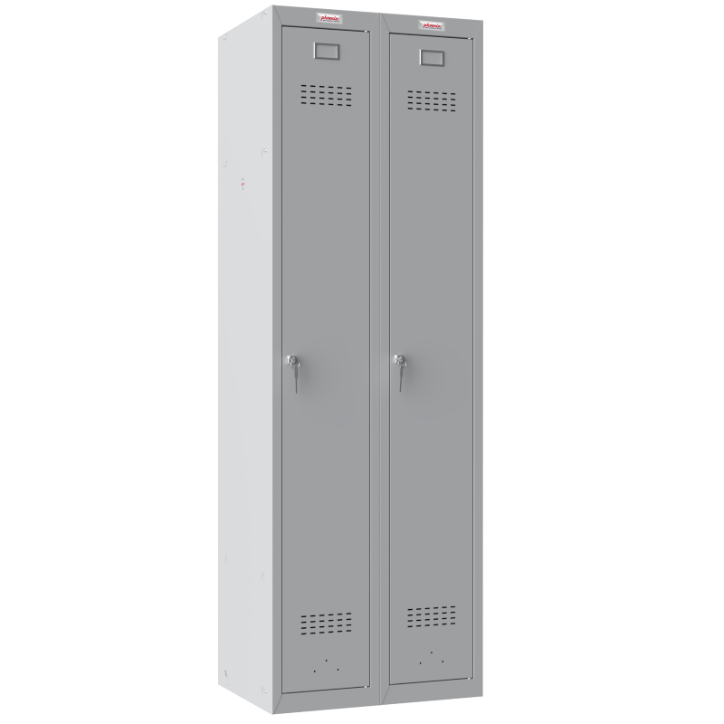 Phoenix 2 Column 2 Door Grey Personal Locker