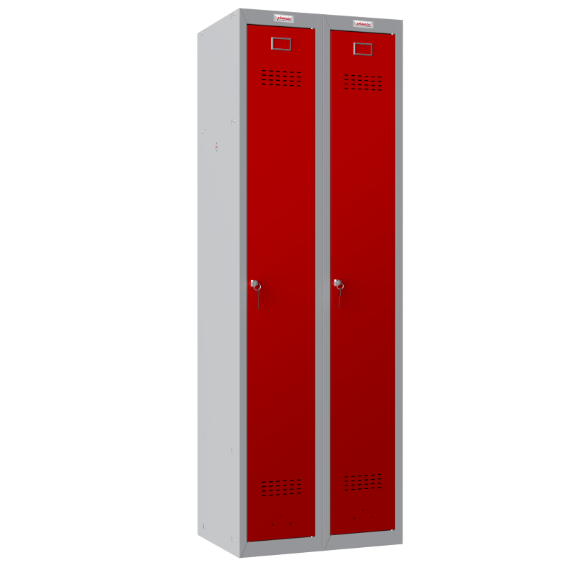 Phoenix 2 Column 2 Door Red Personal Locker