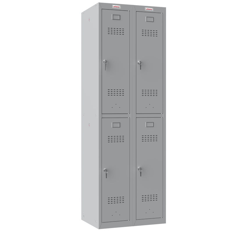 Phoenix 2 Column 4 Door Personal Locker Combo in Grey