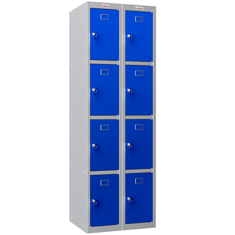 Phoenix  2 Column 8 Door Personal Locker Combo in Blue