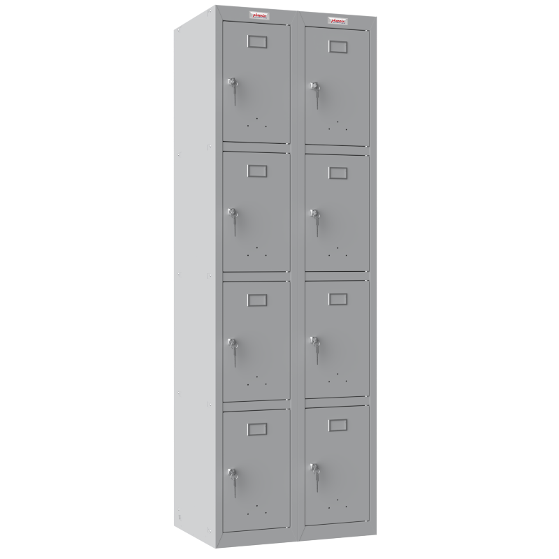Phoenix  2 Column 8 Door Personal Locker Combo in Grey