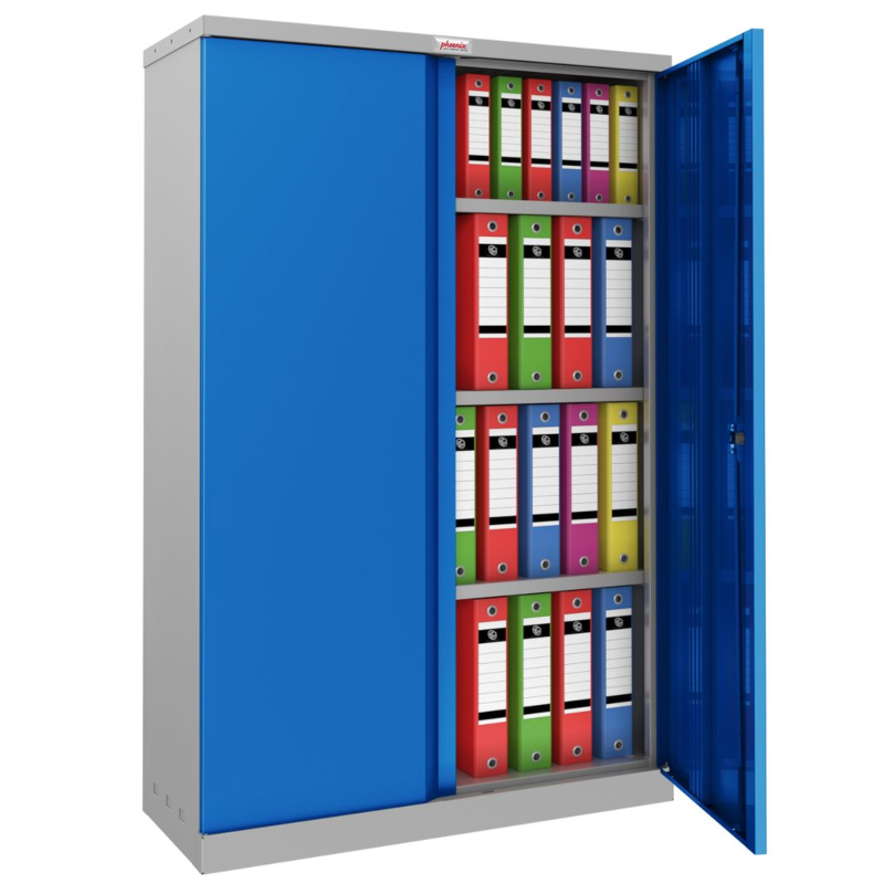 Phoenix SCL 3 Shelf Steel Storage Cupboard Blue