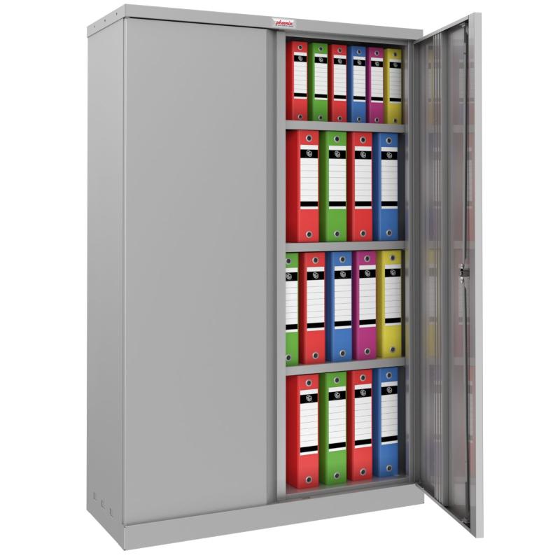 Phoenix SCL 3 Shelf Steel Storage Cupboard Grey