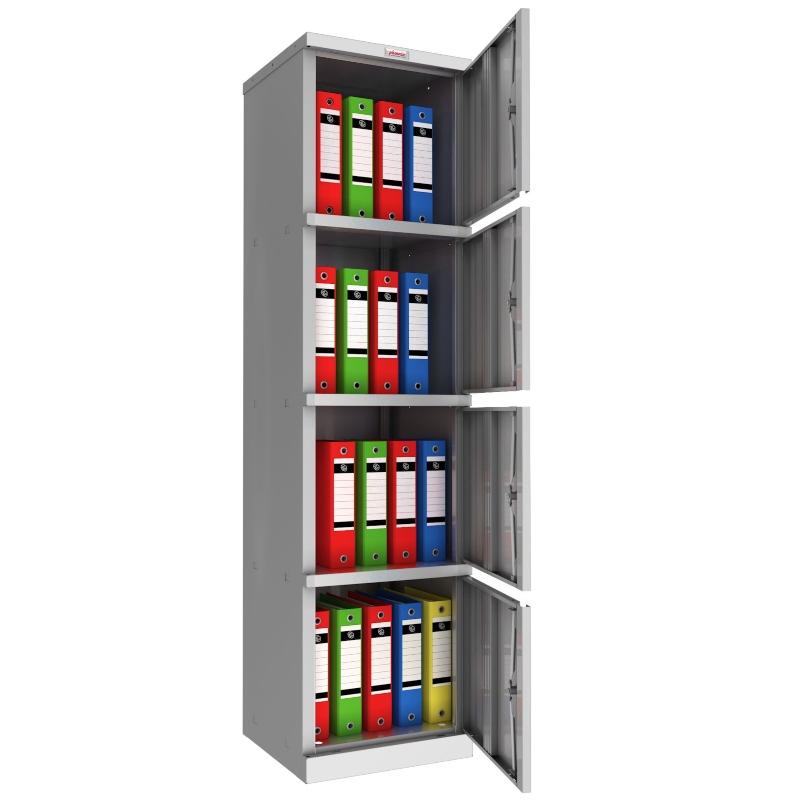 Phoenix SC 4 Door Stationery Cupboard Grey