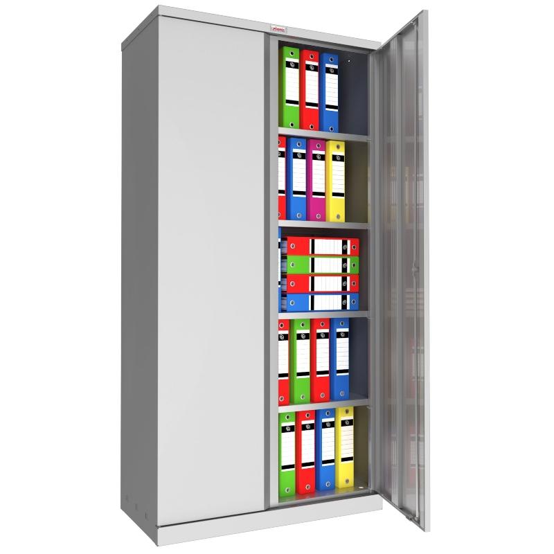 Phoenix SC 2 Door 4 Shelf Stationery Cupboard Grey