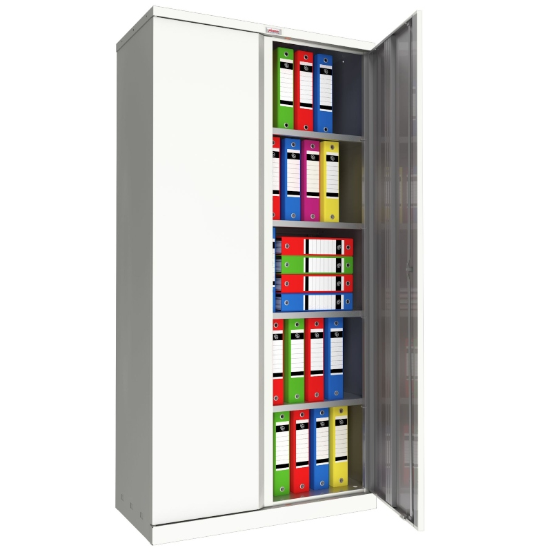 Phoenix SC 2 Door 4 Shelf Stationery Cupboard White